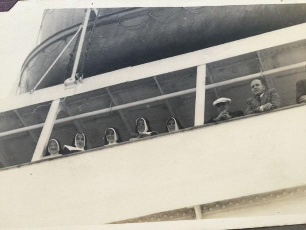 Chegada no Brasil em 12 de outubro de 1947