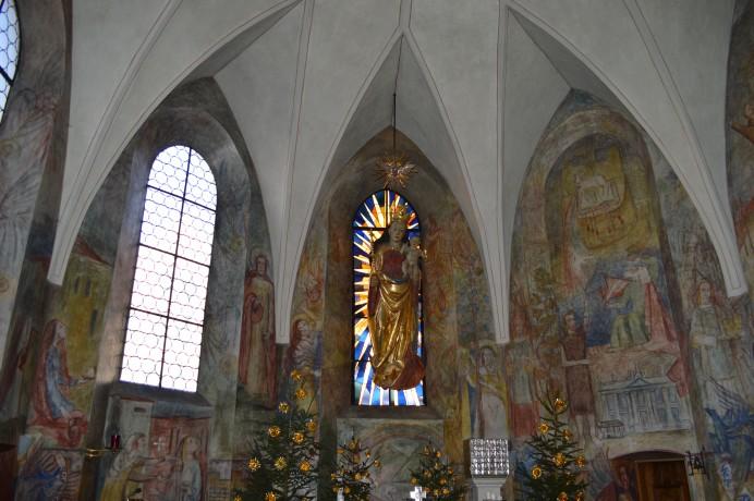 Capela da Casa-Mãe com a imagem da Virgem de Landshut
