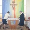Preparando o altar para a Eucaristia
