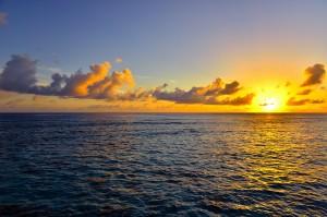 Beautiful seascape -- sea in sunset