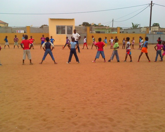 Aula de educação física - Escola São Marcos