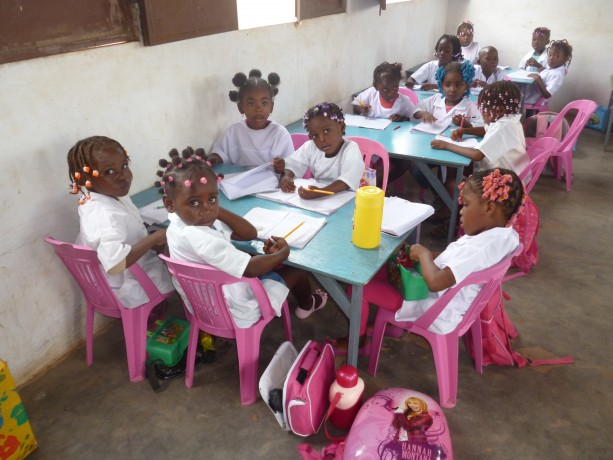 Turma de iniciação - Escola São Marcos