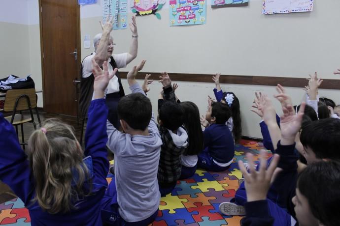 Atuação com os estudantes do Colégio São Francisco